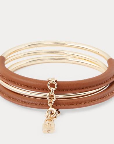 Brass-Leather Bracelet
