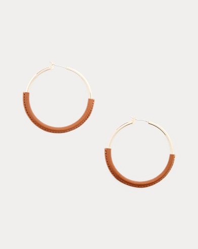 Brass-Leather Hoops