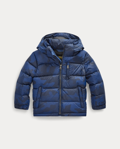 Hooded Camo Down Jacket