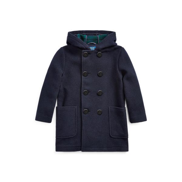 폴로 랄프로렌 남아용 블랙왓치 후드 피코트 Polo Ralph Lauren Wool-Blend Hooded Peacoat,Navy/Blackwatch