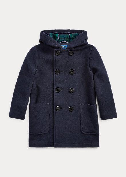 Polo Ralph Lauren Wool-Blend Hooded Peacoat