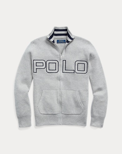 Polo Cotton Full-Zip Jumper