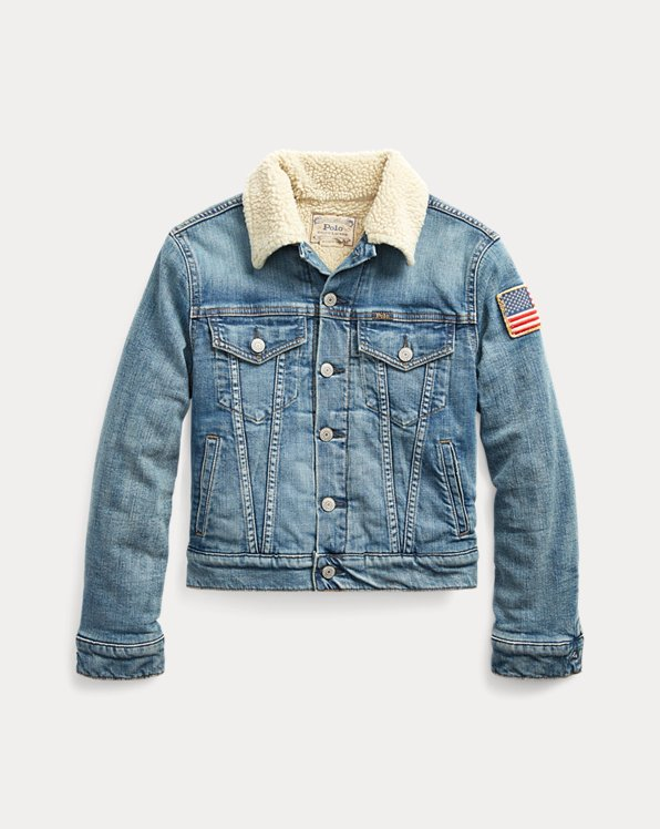 Fleece-Lined Trucker Jacket