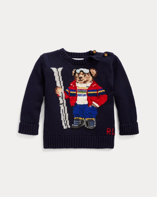 Ski Bear Cotton-Blend Jumper