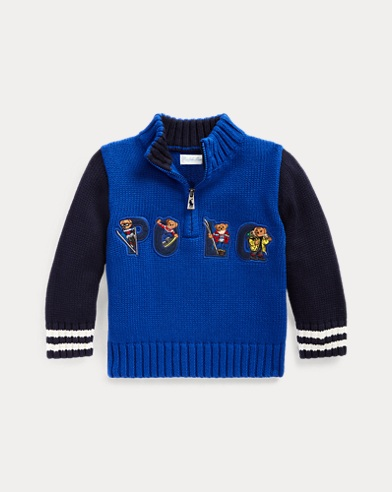 Ski Bear Cotton Sweater