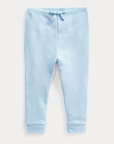 Pantaloni in cotone a nido d'ape