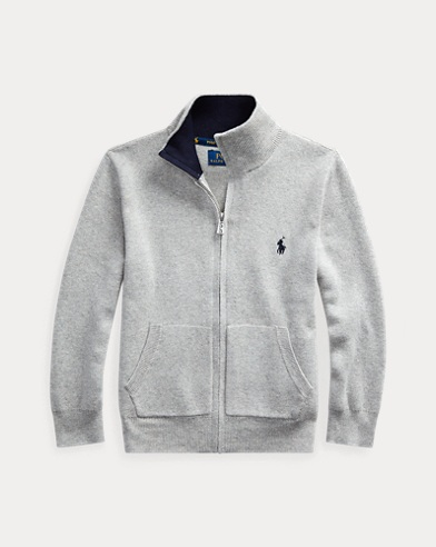 Cotton Full-Zip Jumper
