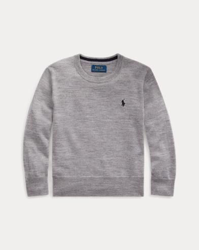 Jersey de lana de merino con cuello redondo