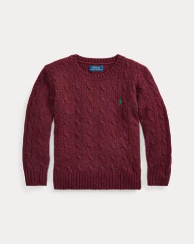 Pull en laine et cachemire torsadé