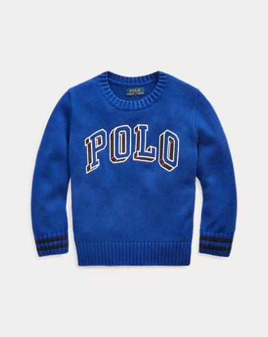 Polo Cotton Crewneck Sweater