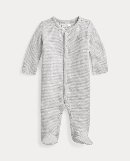 569e504e2d Waffle-Knit Cotton Coverall