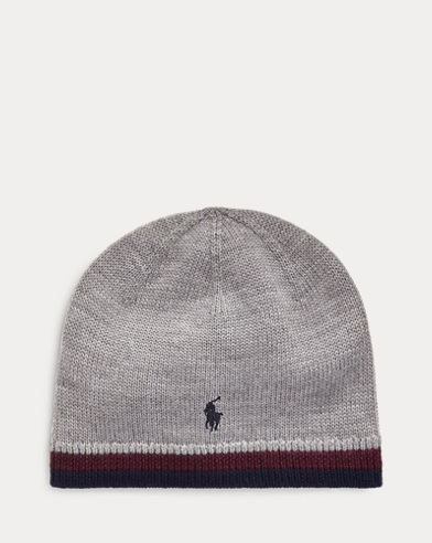Striped Merino Wool Hat