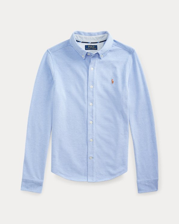 Camisa Oxfordde algodón tejido