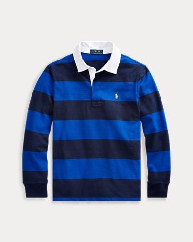 Chemise de rugby en coton rayé