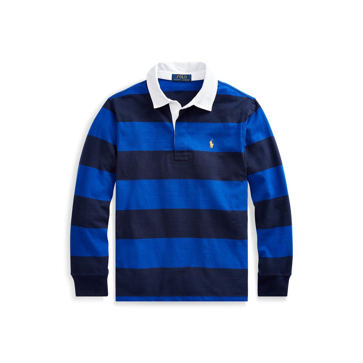 Polo Ralph Lauren Striped Cotton Rugby Shirt Rug Agar