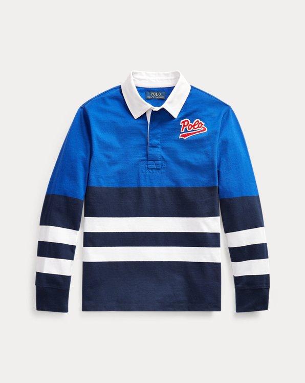 Camicia rugby in cotone a righe