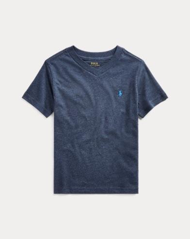T-shirt col enV en jersey