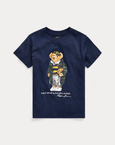 Football Bear Cotton Tee