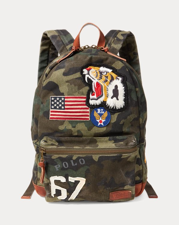 Camo Canvas Backpack