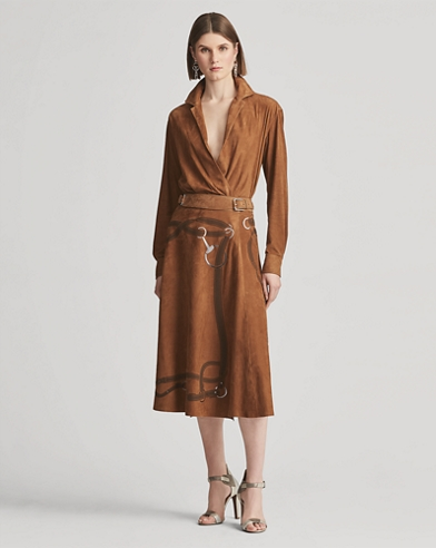 Donnelly Lamb-Suede Skirt