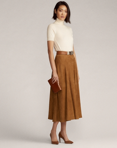 Christiane Lamb-Suede Skirt
