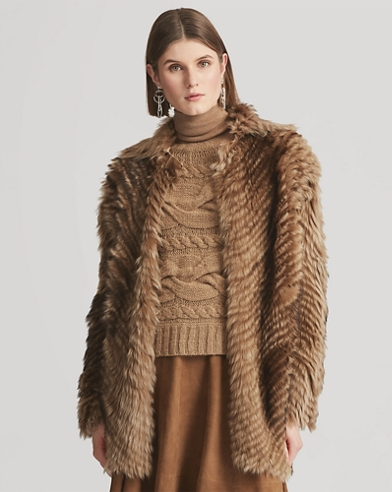 Abrigo de borreguillo tipo jersey