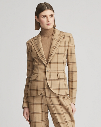 Winnifred Plaid Wool Jacket