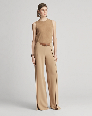 Saunders Belted Cady Pant