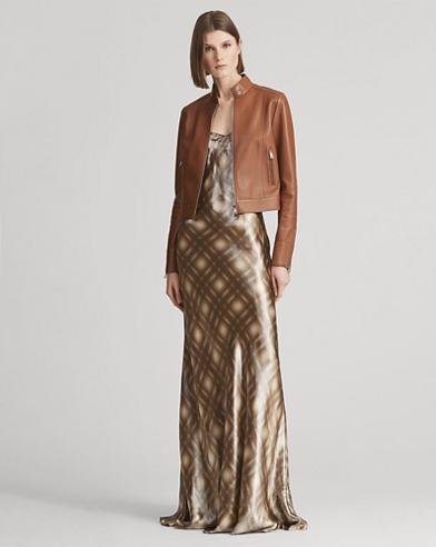 Evelyn Plaid-Print Slip Dress