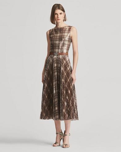 Arwen Sequined Plaid Dress
