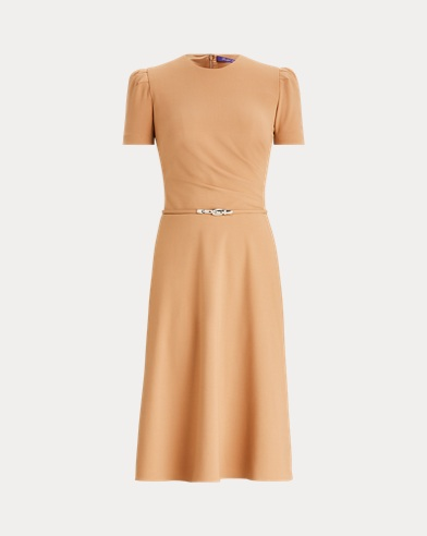 Eldridge Belted Wool Dress