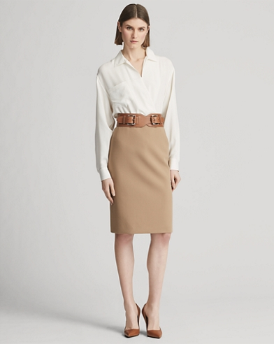 Cindy Double-Faced Wool Skirt