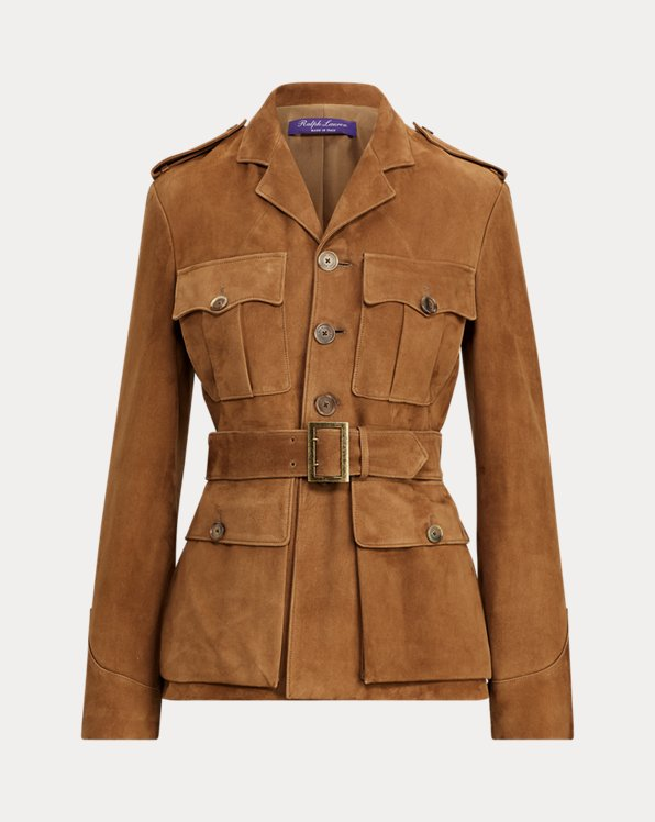 Bryn Belted Lamb-Suede Jacket
