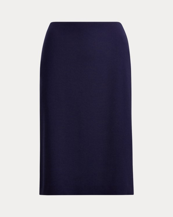 Cindy Stretch Wool Crepe Skirt