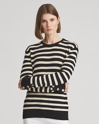 Stripe Cotton-Cashmere Sweater