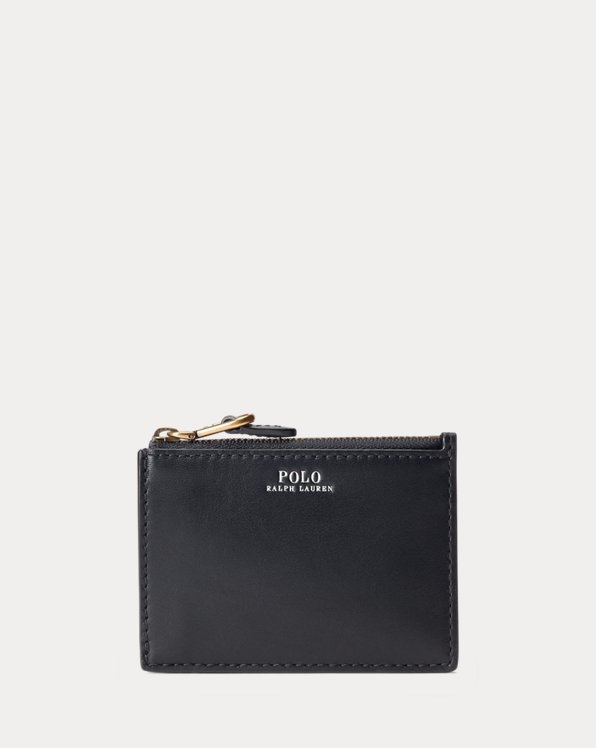 Nappa Leather Zip Card Case