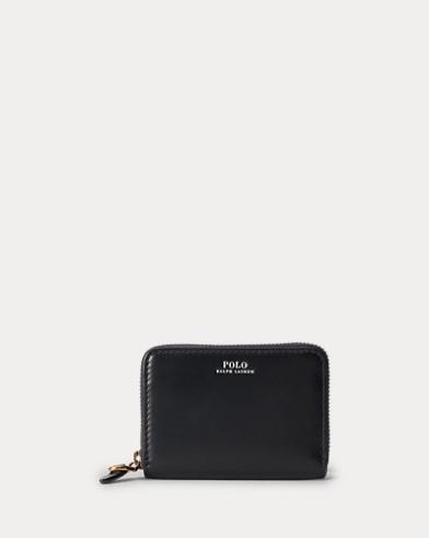 Petit portefeuille zippé en cuir