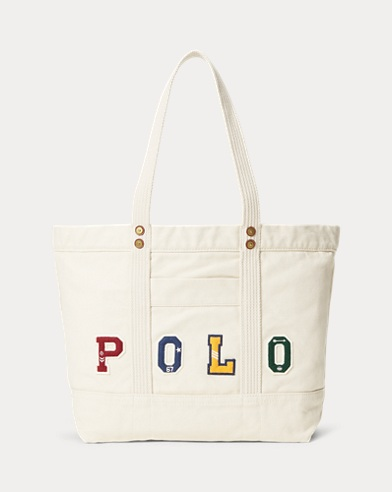 Polo Patchwork Canvas Tote Bag