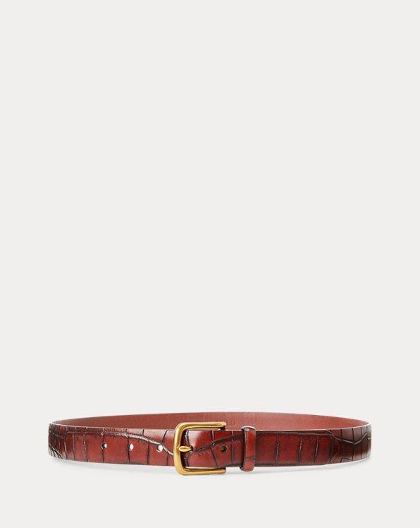 Crocodile-Embossed Belt