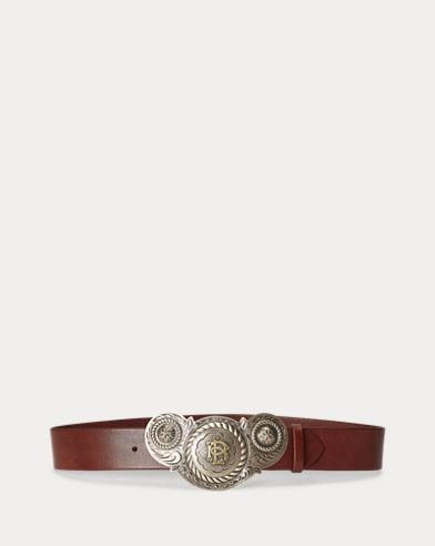 Cinturón Santa Fe con hebilla de placa