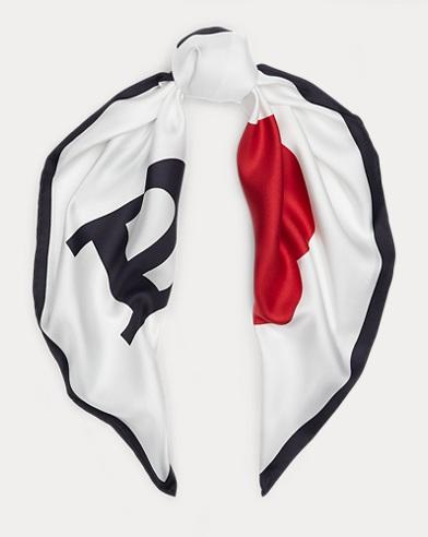 Polo Graphic Silk Scarf