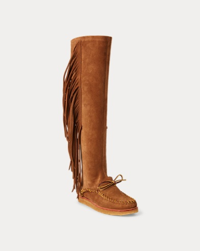 8d5c38b416eab Channing Fringe Moccasin Boot. Polo Ralph Lauren. Channing Fringe Moccasin  Boot