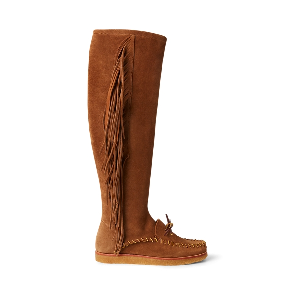 Vintage Boots, Granny Boots, Retro Boots Channing Fringe Moccasin Boot �599.00 AT vintagedancer.com