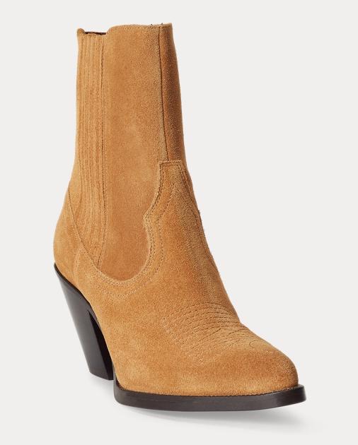 Polo Ralph Lauren Lowrey Suede Cowboy Boot 2