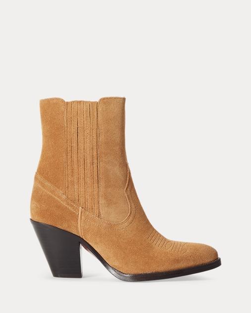 Polo Ralph Lauren Lowrey Suede Cowboy Boot 1