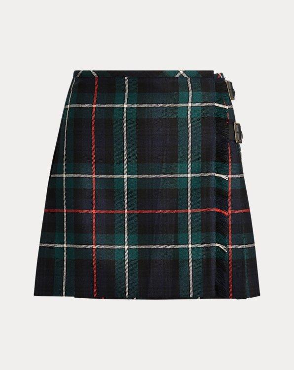 Tartan Wool Miniskirt