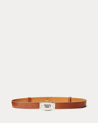 Flip-Lock Smooth Leather Belt