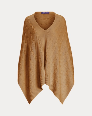 Cable-Knit Cashmere Poncho