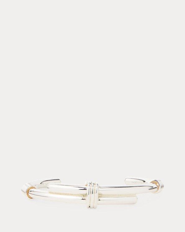 Bracelet cravache plaqué argent