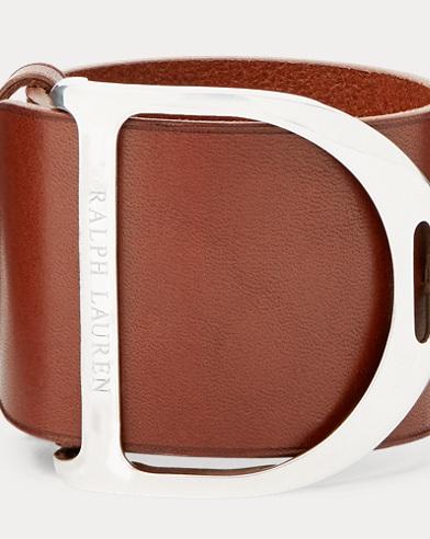 Stirrup Leather Wide Bracelet